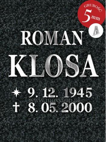 Litery nierdzewne Romano 5mm