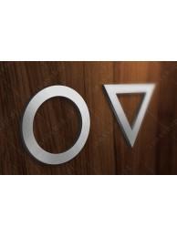 Zestaw Symboli Toalety 3 10cm
