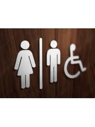 Zestaw Symboli Toalety 1 12cm