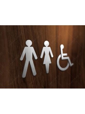 Zestaw Symboli Toalety 2 12cm